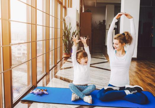 Sago-yoga med glass